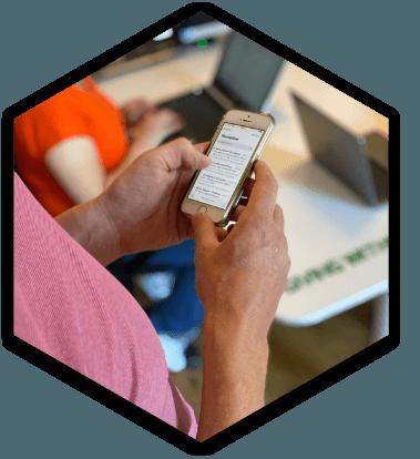 cloudtelefonie op mobiel
